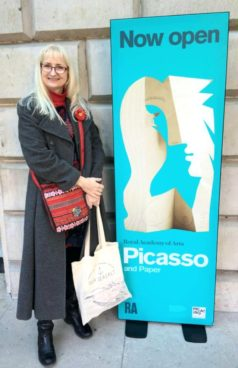 Gerry outside RCA at Picasso exhibition